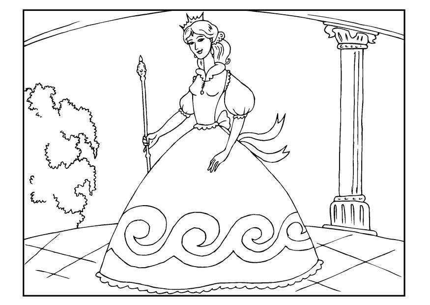 Kleurplaat Prinses Afb 22654