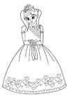 Kleurplaat prinses
