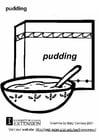 Kleurplaat pudding