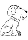 Kleurplaat puppy