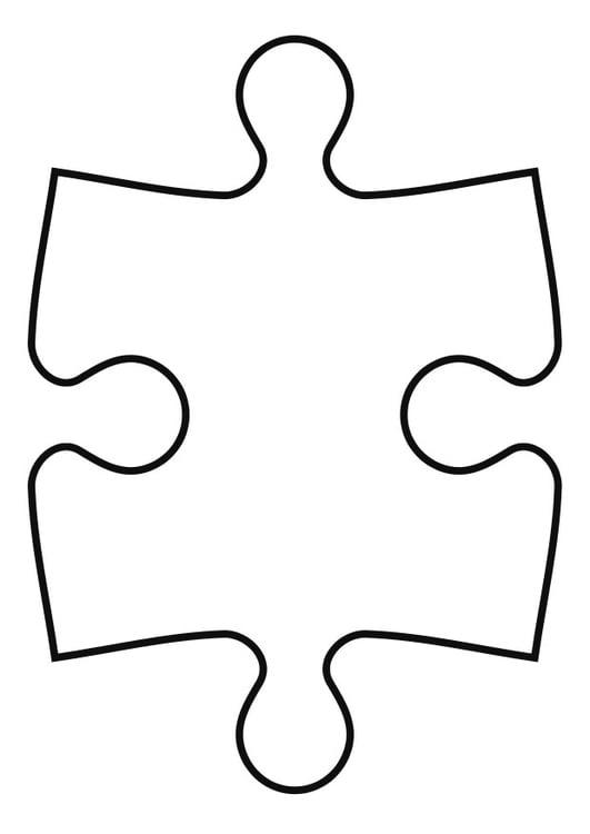 Line Drawing Crossword Clue : Kleurplaat puzzelstuk afb