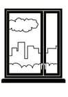 Kleurplaat raam