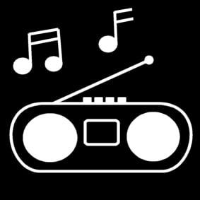 kleurplaat radio afb 13528