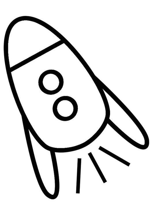 Kleurplaten Van Raketten.Kleurplaat Raket Afb 19251 Images