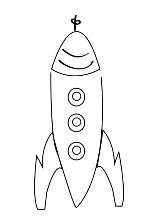 Kleurplaten Van Raketten.Kleurplaat Raket Afb 26301
