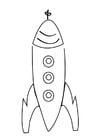 Kleurplaat raket