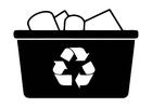 Kleurplaat recycleren
