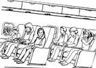 Kleurplaat reizen - vliegtuig