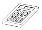 Kleurplaat rekenmachine