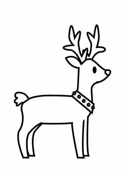Kleurplaten Kerstman Met Rendieren.Kleurplaat Rendier Kerst Gratis Kleurplaten Om Te Printen