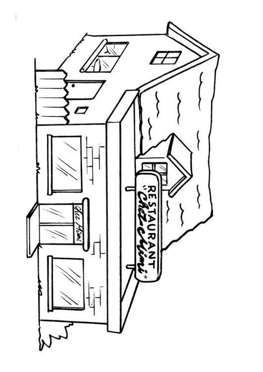 Www Kleurplaten Kok Kleurplaat Restaurant Afb 8204