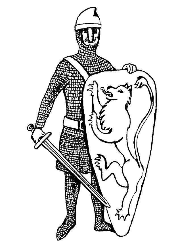 Kleurplaat Middeleeuwen Kleurplaat Ridder Afb 10654