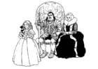 Kleurplaat ridder en familie