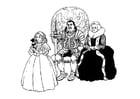 Kleurplaat ridder met familie