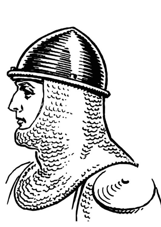 Kleurplaten Ridder Schilden.Kleurplaat Ridder Met Helm Afb 13229