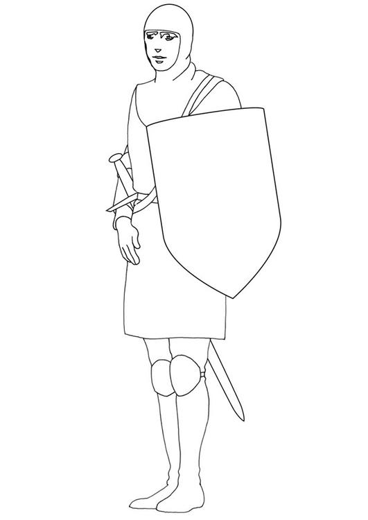 Kleurplaten Ridder Schilden.Kleurplaat Medium Schild Afb 10642
