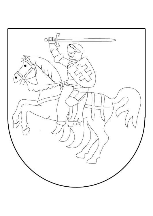 Kleurplaten Ridder Schilden.Kleurplaat Ridder Te Paard In Schild Afb 9839