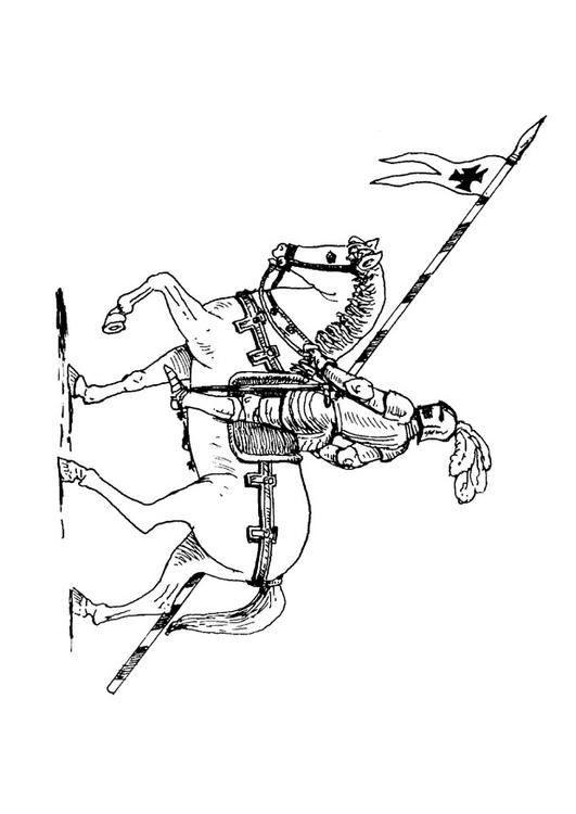 Kleurplaat Ridder Te Paard Afb 9072