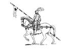 Kleurplaat ridder te paard