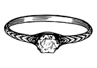 Kleurplaat ring