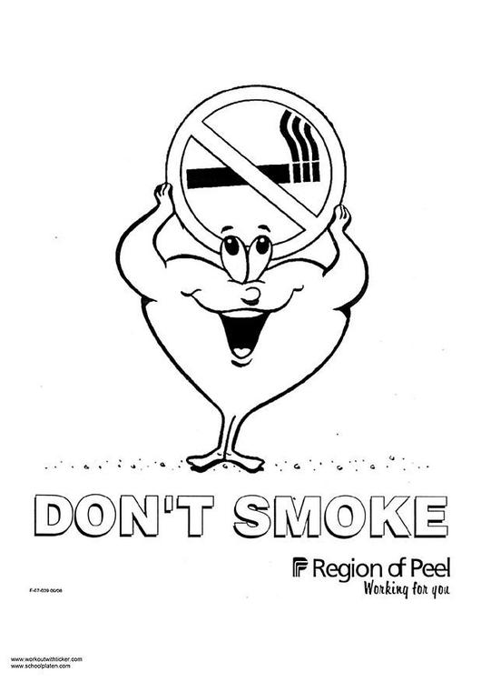 Kleurplaat roken Afb 2976