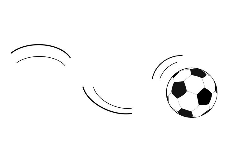 Kleurplaat rollende bal - Afb 27268. Rolling Soccer Ball