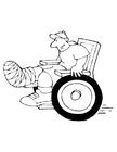 Kleurplaat rolstoel