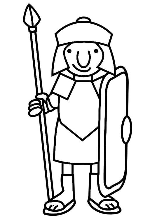 Kleurplaten Leger Soldaten.Kleurplaat Romeinse Soldaat Afb 19813