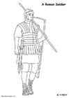 Kleurplaat Romeinse soldaat