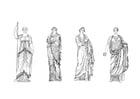 Kleurplaat Romeinse vrouwen