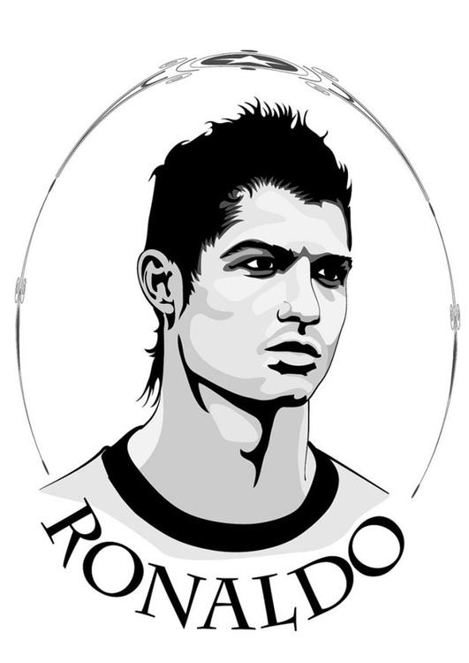 soccer coloring pages ronaldo hair - photo#28