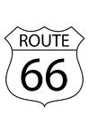 Kleurplaat route 66