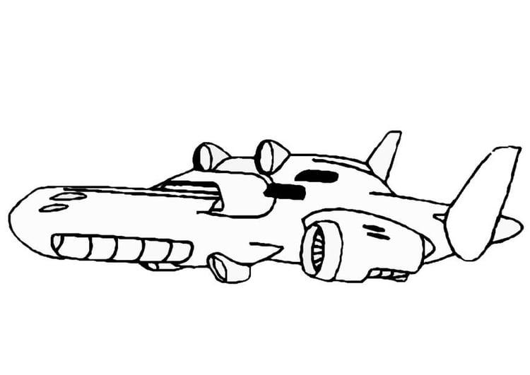 kleurplaat ruimteschip afb 8862