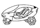 Kleurplaat ruimteschip