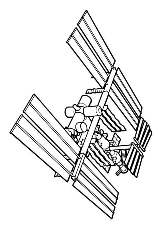 Kleurplaten Ruimtestation.Kleurplaat Ruimtestation Afb 17404