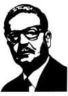 Kleurplaat Salvador Allende