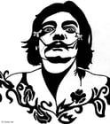 Kleurplaat Salvador Dali