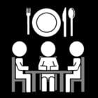Kleurplaat samen eten