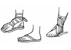 Kleurplaat sandalen