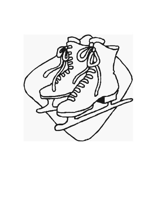 kleurplaat schaatsen afb 12545