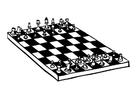Kleurplaat schaken