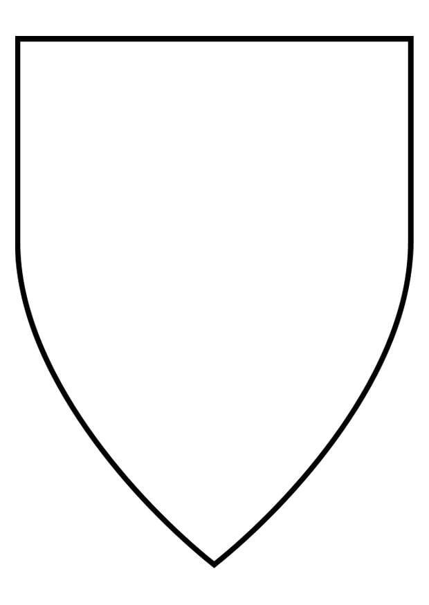 Kleurplaat Middeleeuwen Kleurplaat Schild Afb 27150
