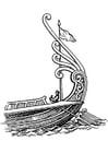 Kleurplaat schip - achtersteven met roer