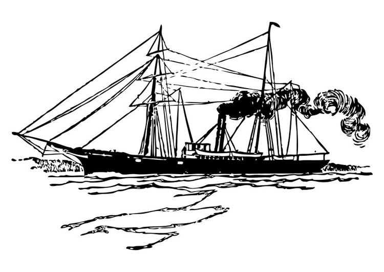 Kleurplaat Schip Afb 10525