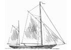 Kleurplaat schip - masten