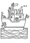 Kleurplaat schip