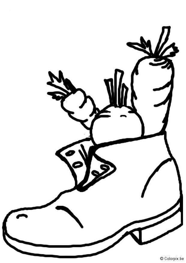 Paard Kleurplaat Makkelijk Kleurplaat Schoen Voor De Sint Afb 8739