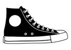 Kleurplaat schoen
