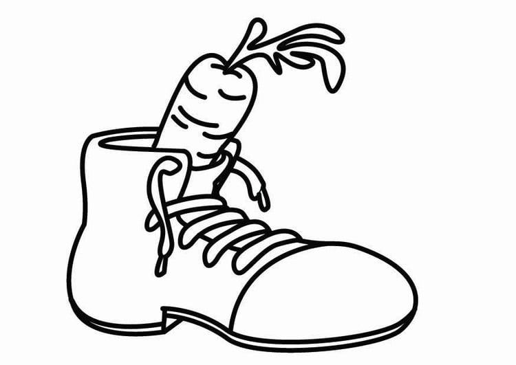 Kleurplaat Schoen Voor De Sint Afb 26419