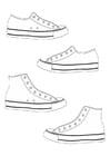 Kleurplaat schoenen